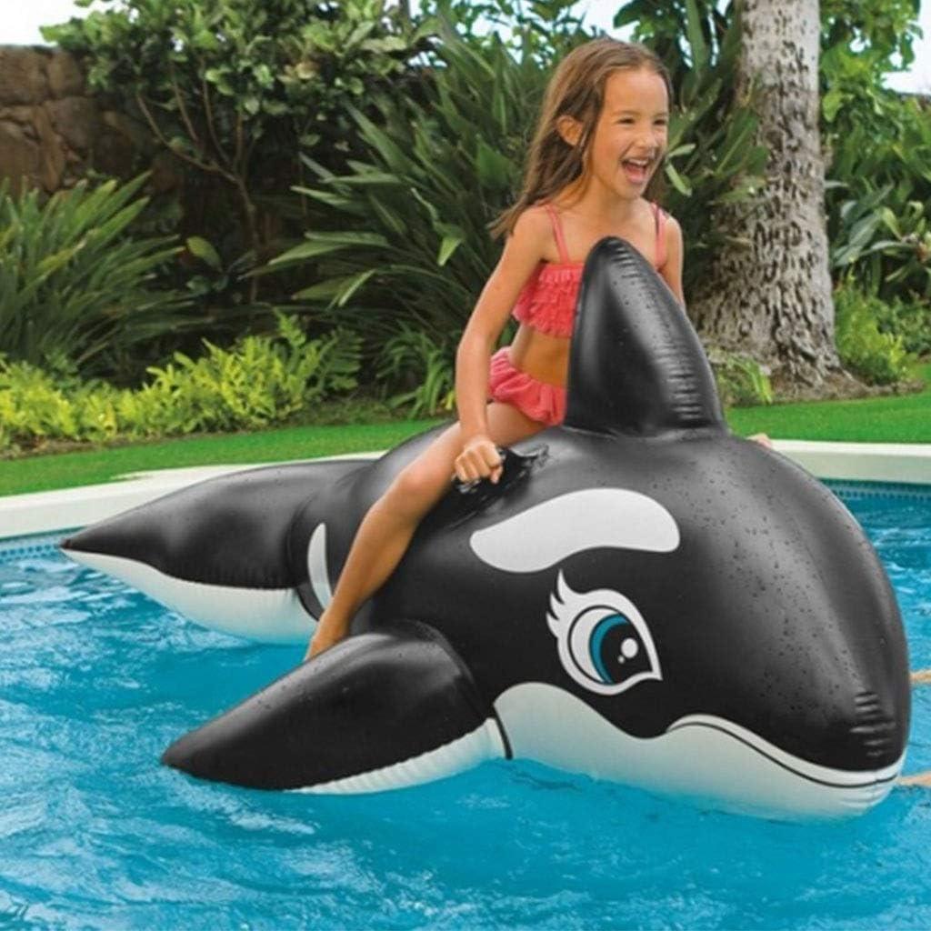 HSF Anneau de Natation Adulte Grand Animal/Crocodile de Tortue Baleine Bleue et Dauphin/Jouet Gonflable for Enfants Ballons d'eau (Color : O) G