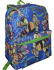 Nickelodeon Junior Boys Teenage Mutant Ninja Turtles 16 School Bag Backpack With Laptop Pocket (Blue)
