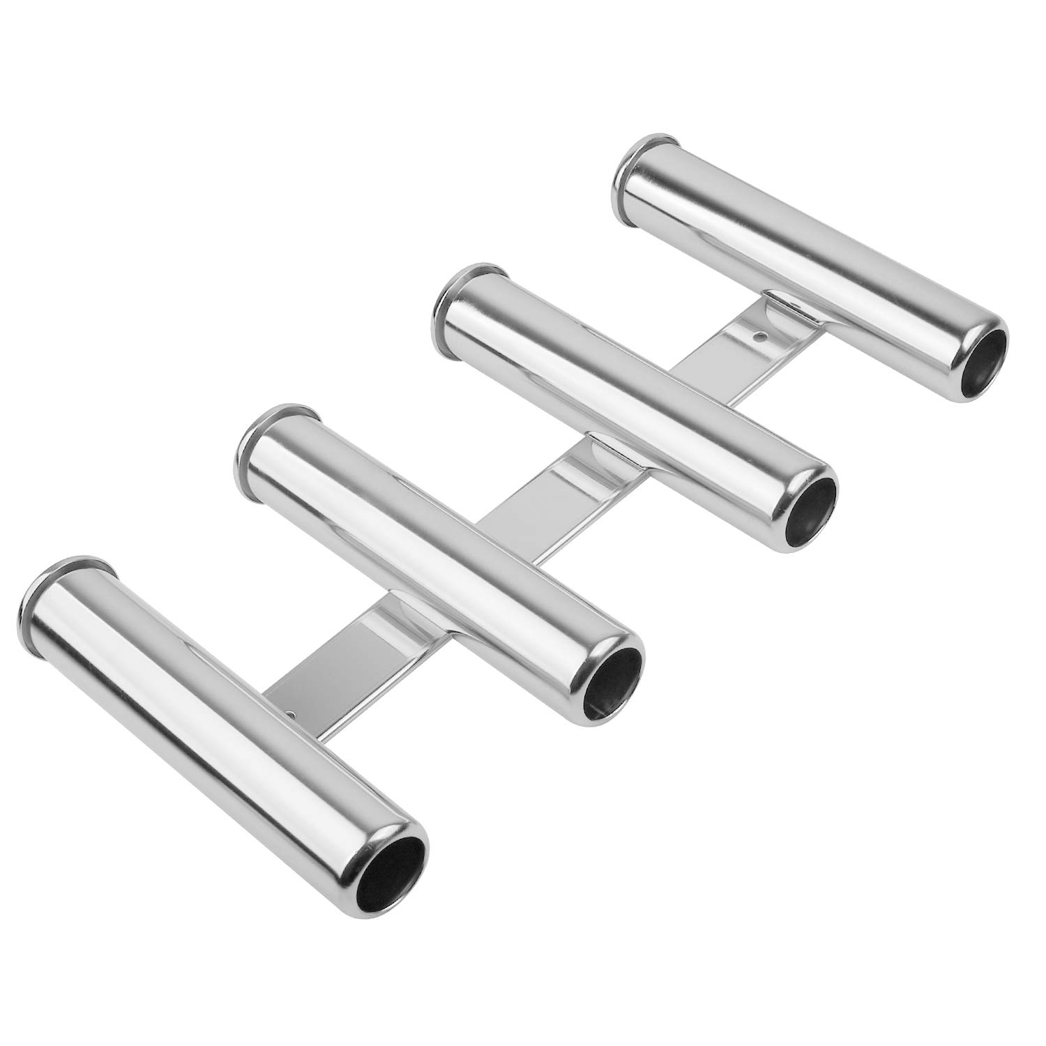 KINJOEK Fishing Rod Holder with 4 Tubes Stainless Steel Fishing Rod Rack for Marine Boat Yacht Camping RV