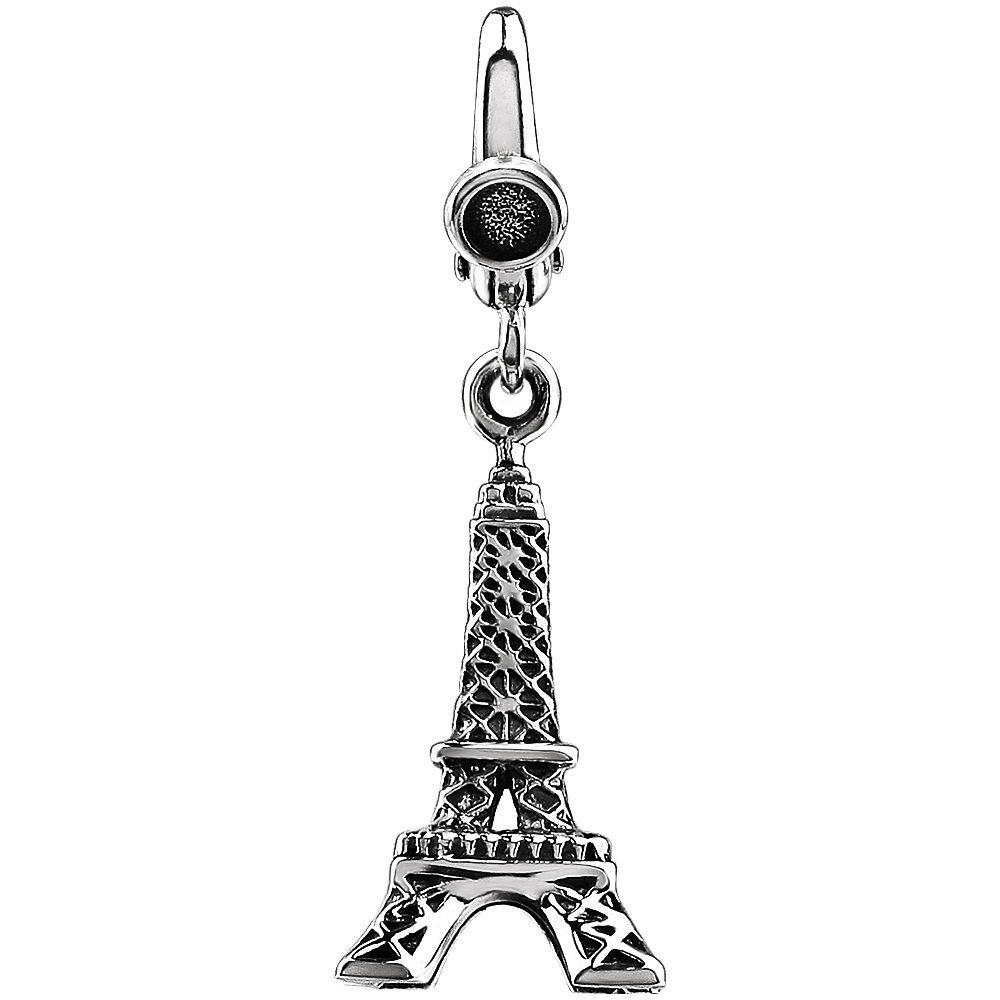 FB Jewels 925 Sterling Silver Eiffel Tower Charm