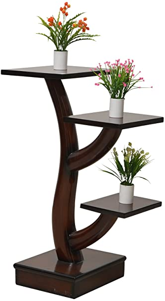 Lovely Ankita Furniture Corner Table Brown Amazon In Home Kitchen