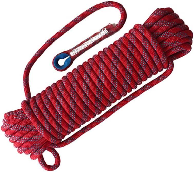 LIINA ロープ 20mmのエスケープロープの安全ロープの赤の大きい抗張耐摩耗性の防水支持力は2000キロまで (Size : 20m)  20m