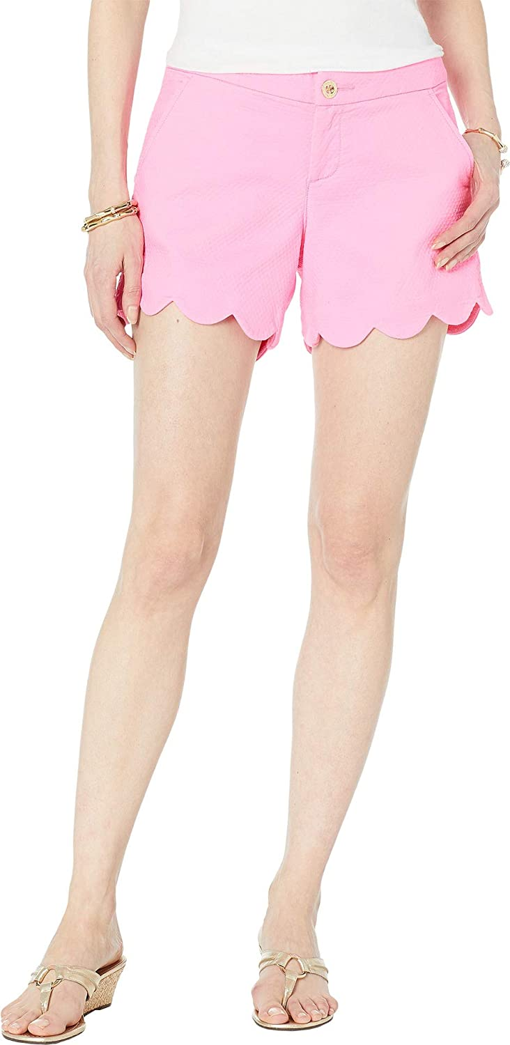 3fa1467ee02edc Lilly Pulitzer Women's Buttercup Stretch Shorts Pink Tropics 0 5 at Amazon  Women's Clothing store: