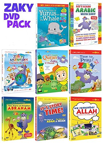 Zaky & Friends Islamic Dvd Collection of Zaky Series set of 8 DVDs Bundle by One4kids