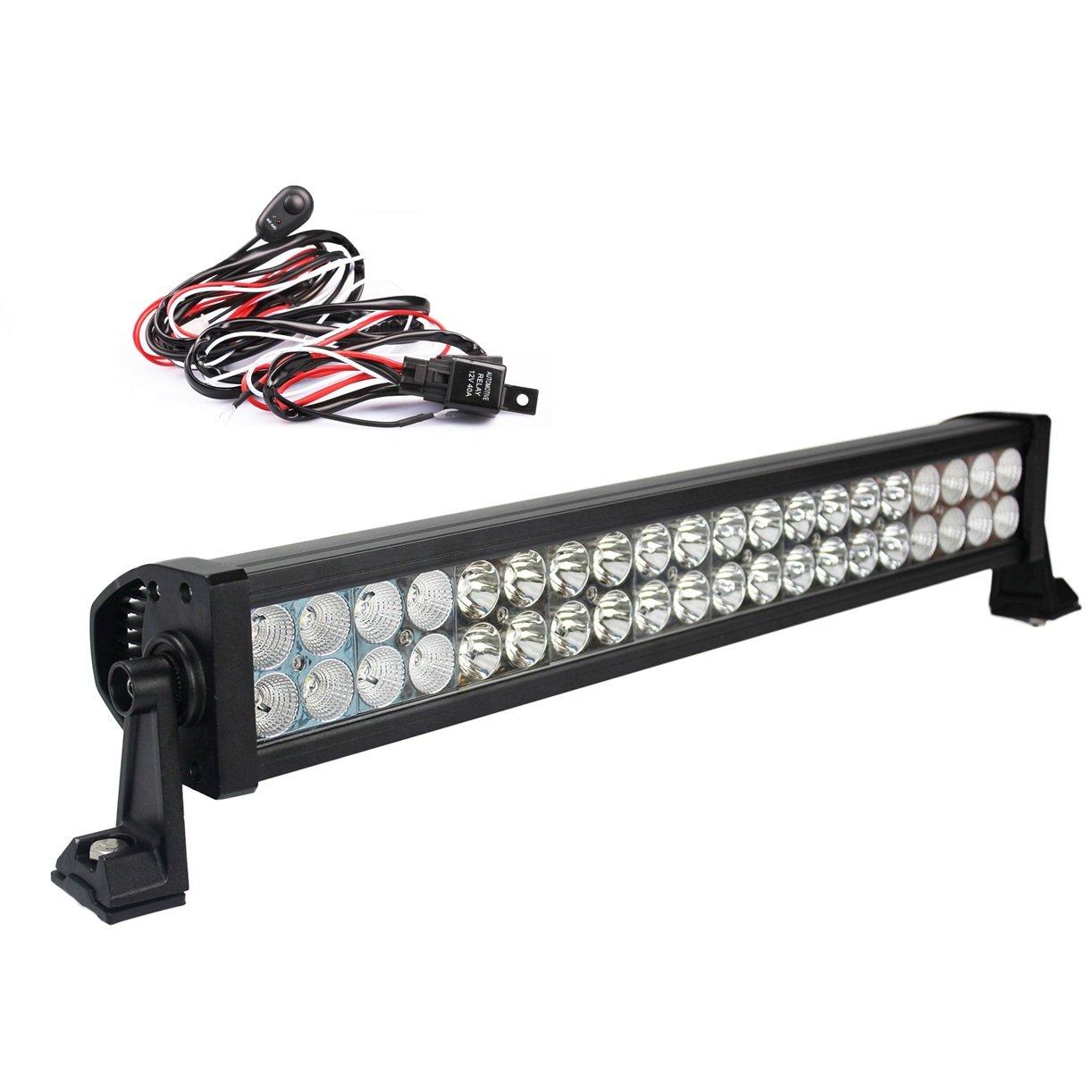 120W//180W//240W//300W LED barra de luz trabajo Spot Flood Combo FOCO 12V 24V Light Bar veh/ículos todoterreno coche cami/ón ATV 120