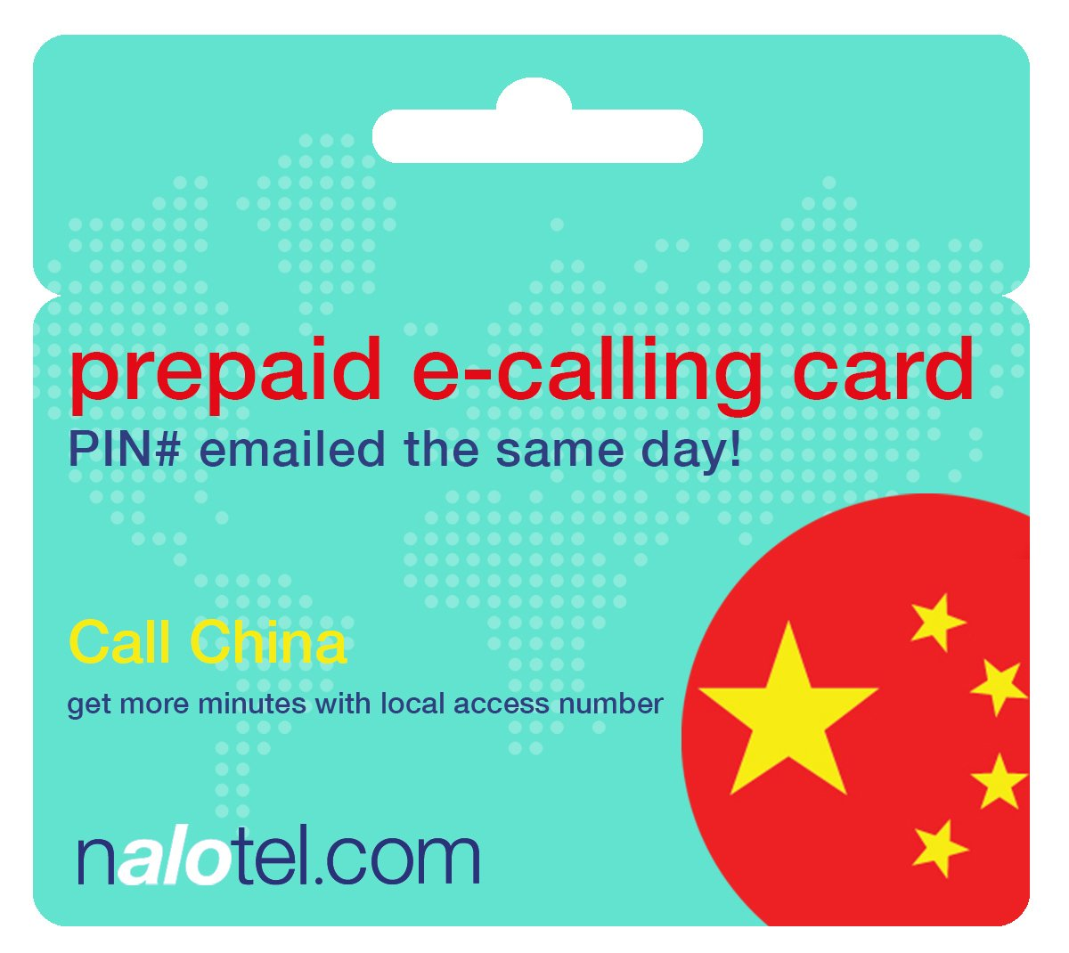 Prepaid Phone Card - Cheap International E-Calling Card $10 for China with same day emailed PIN, no postage necessary