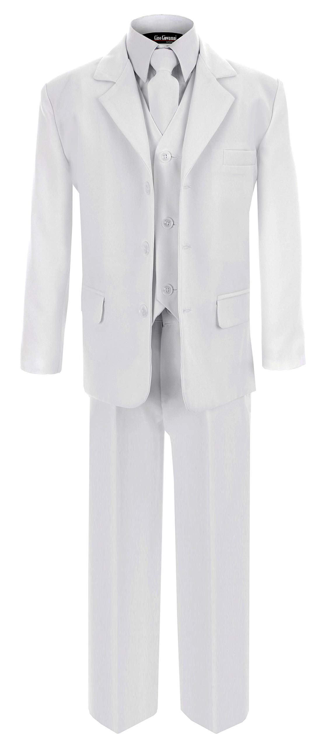 G230 White First Communion and Wedding Suit Set for Boys (12)