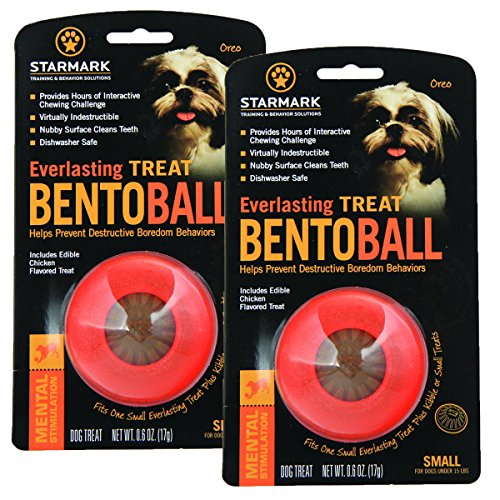 StarMark 2 Pack of Everlasting Treat Bento Balls, Small, Puzzle Toys for Dogs Under 15 Pounds ()