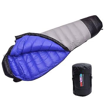 LMR Ultraligero Saco de Dormir Tipo Momia, para las 4 temporadas,a prueba de agua, Saco de compresión (gris): Amazon.es: Deportes y aire libre