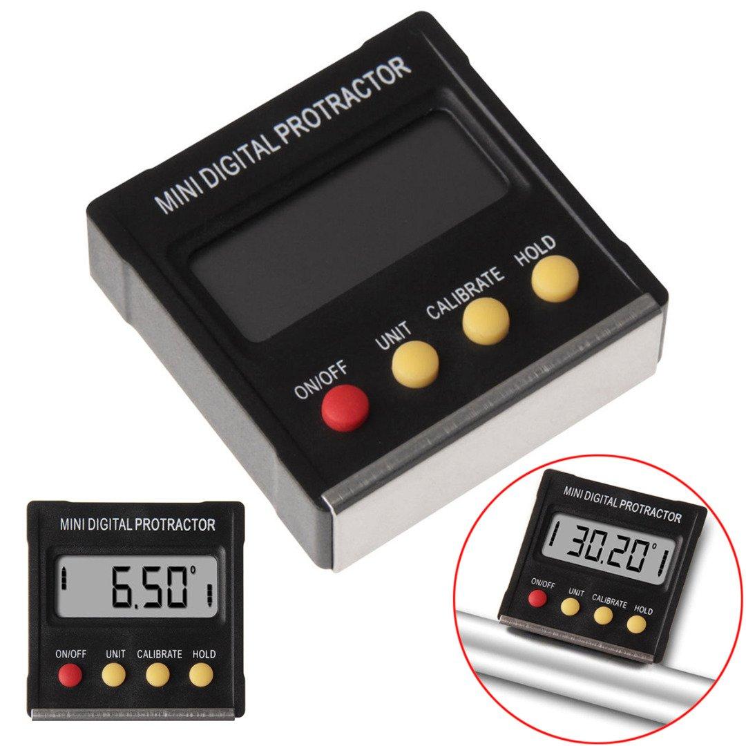 Digital Protractor Mini Inclinometer Level Gauge Magnetic Finder Base Meter