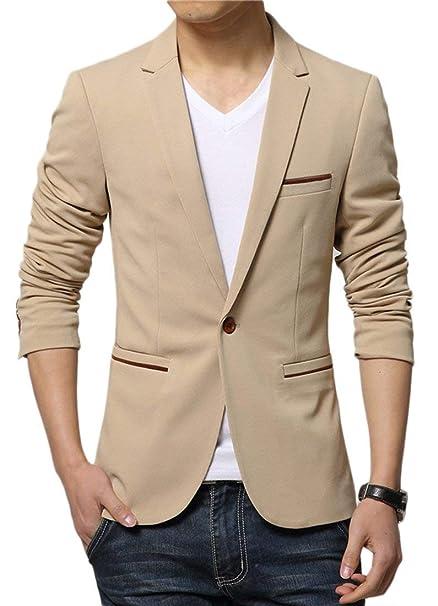 e7ca0b5280dee Blazer Slim Fit Blazer para Casual Blazer para Blazer Hombre Joven Hombre  Blazer para Hombre Blazer De Manga Larga Casual para Hombre  Amazon.es   Ropa y ...