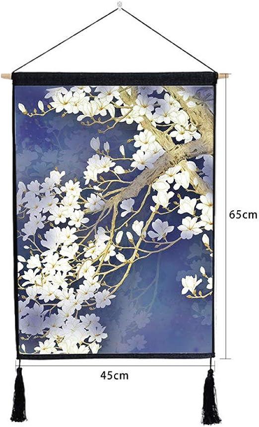 mmzki Planta colgada de Loto Chino Pintura Colgante Borla Pintura R 46 * 65 cm: Amazon.es: Hogar