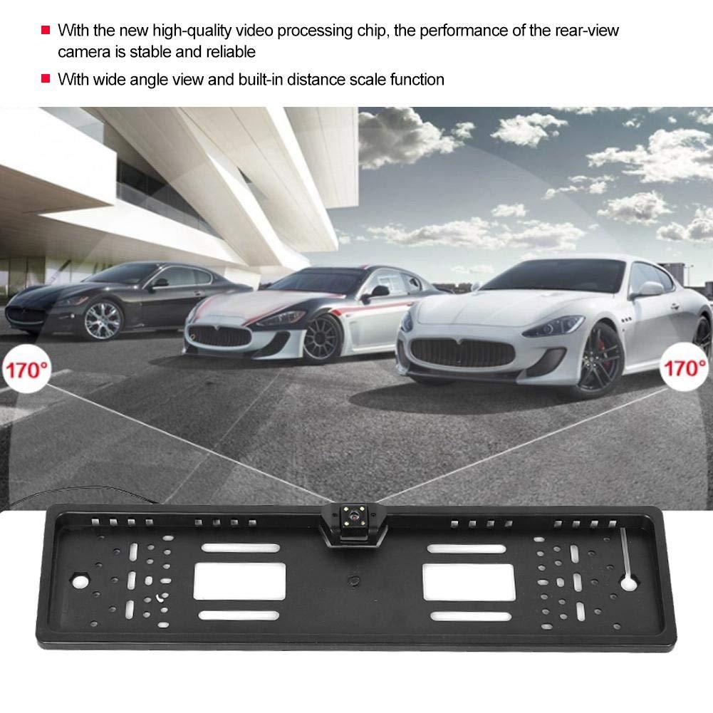 Cam/éra de recul pour plaque dimmatriculation cadre de plaque dimmatriculation universelle avec accessoires de voiture pour cam/éra de recul