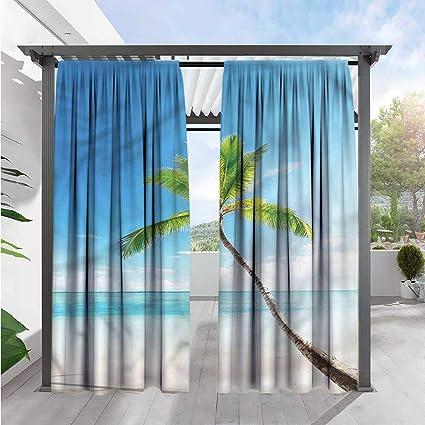 amazon com tropical indoor outdoor single panel print windowWindow Curtain Photo #20