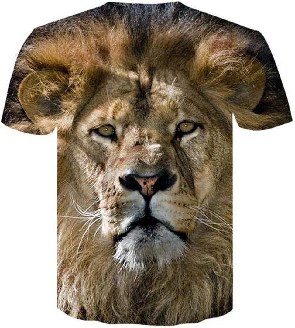 Camisetas, Animal León Camiseta Hombre Manga Corta ...