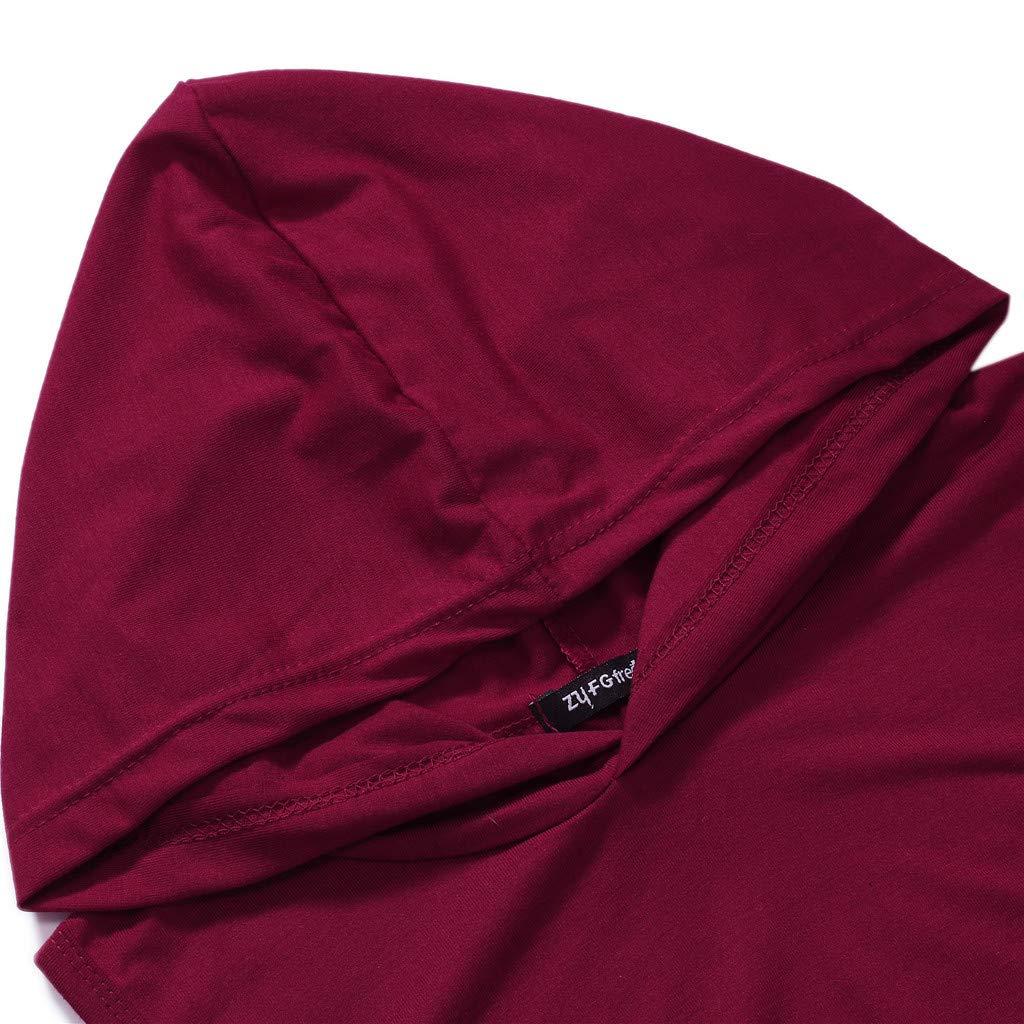 iYBUIA Mens Hipster Hip Hop Hooded Tanktop Drawstring Hoodie Pocket