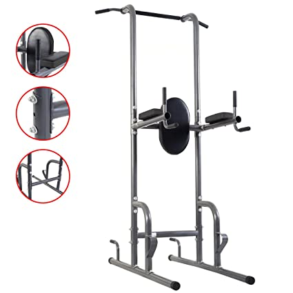 Amazon.com   Dip Station Chin Up Tower Rack Pull Up Weight Stand Bar ... 2b34afb10e92