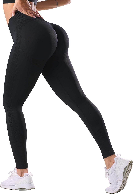 Women/'s High Waist Scrunch Leggings Gym Yoga Pants Running Fitness Sportswear UK