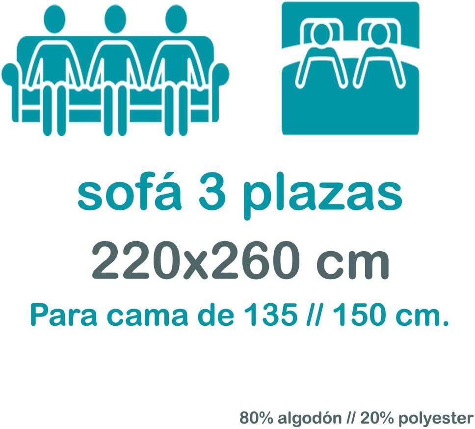 DHestia Canal/é Couvre-lit//canap/é multi-usage avec franges Anthracite 220 x 260 cm
