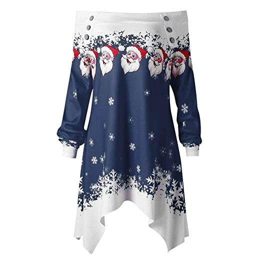 b0b5c52072c Image Unavailable. Image not available for. Color: Sunhusing Ladies  Christmas Print ...