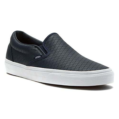 379128193f Vans Mens Classic Slip-On (Diamond Perforation) Dress Blues Leather ...