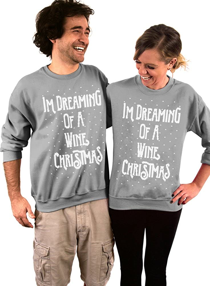 Dentz Design Im Dreaming of a Wine Christmas Crew Neck Sweatshirt