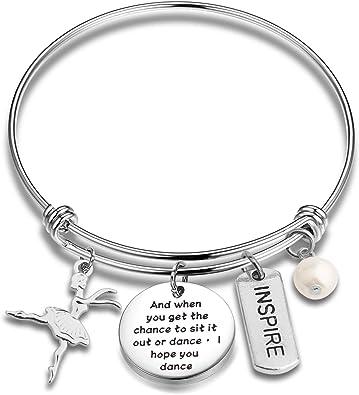 Ballet Jewelry Ballerina Gift Dance Charm Bracelet Dance Gift Dancer Personalized Dance Bracelet Love to Dance Bracelet