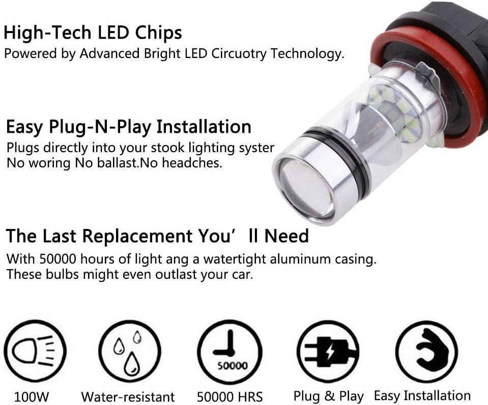 2x last resistencia resistencia h8 h11 LED SMD faros antiniebla 50 W vatios 10 Ohm