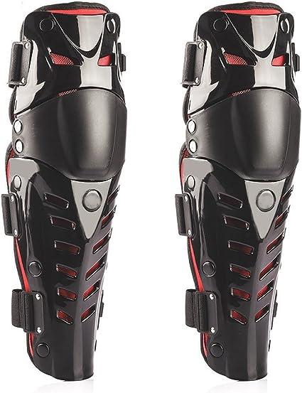 Graceug Knie Schienbein Schutz Racing Enforcer Erwachsene Knie Schienbeinschoner Motocross Motorrad Body Armor Schwarz Racing Motorrad Knie Displayschutzfolie Sport Freizeit