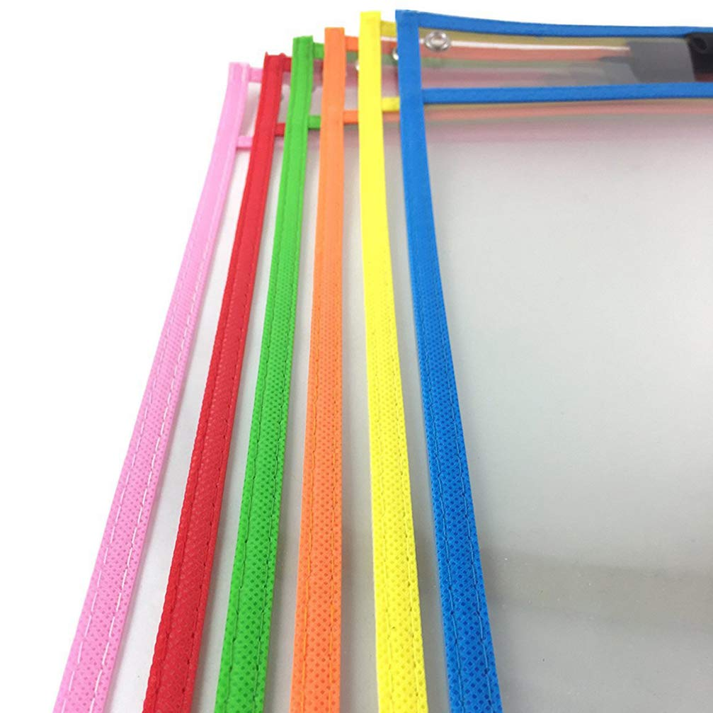 confezione da 10 buste cancellabili a secco perfette per la scuola o il lavoro riutilizzabili Newbesty