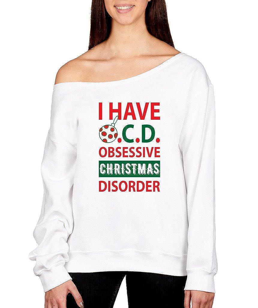 SignatureTshirts Womens Obsessive Christmas Disorder Off Shoulder ...