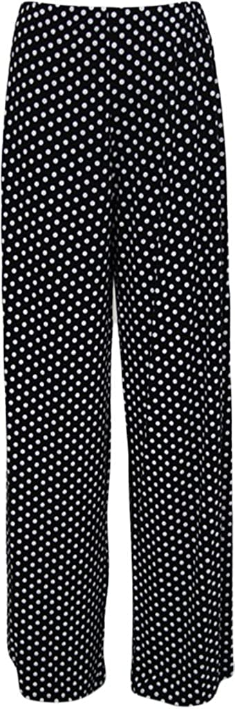 WearAll Plus Size Women's Print Palazzo Trousers 65000