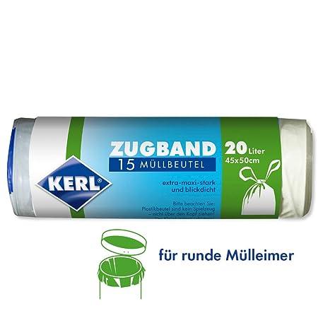 Kerl 4003450030425 - Bolsas de basura (20 L, 15 unidades, 45 ...