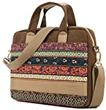 Kinmac Coffee-New Bohemian Laptop Shoulder Messenger Briefcase Bag For 15 inch to 15.6 inch Laptop