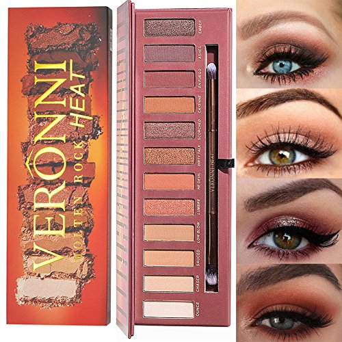 VERONNI 12 Colors Highly Pigmented Pro Matte Pressed Colorfu