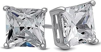 09c67775b Body Fashion Surgical Steel Choice of 6 Sizes Square Basket Set Crystal  Diamond Unisex Mens Stud