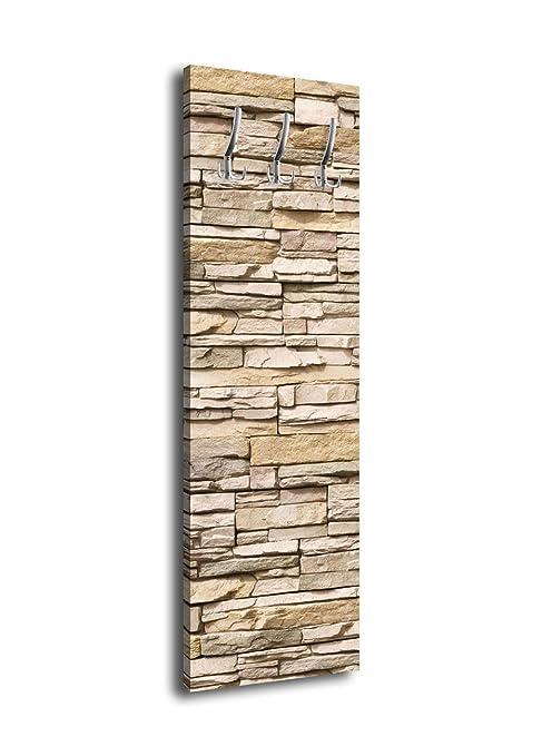 wandmotiv24 Perchero con diseño Asian Stone Wall G151 40 x ...