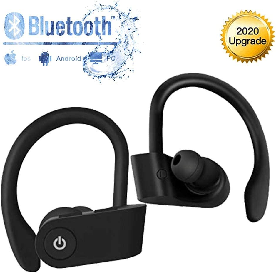 Auriculares Bluetooth, Auriculares Inalámbricos Deportivos, Inteligent Bluetooth 5.0 HiFi Mini Twins Estéreo In-Ear Auriculares , para el Correr Hacer Ejercicio, para Apple Airpods Android iPhone