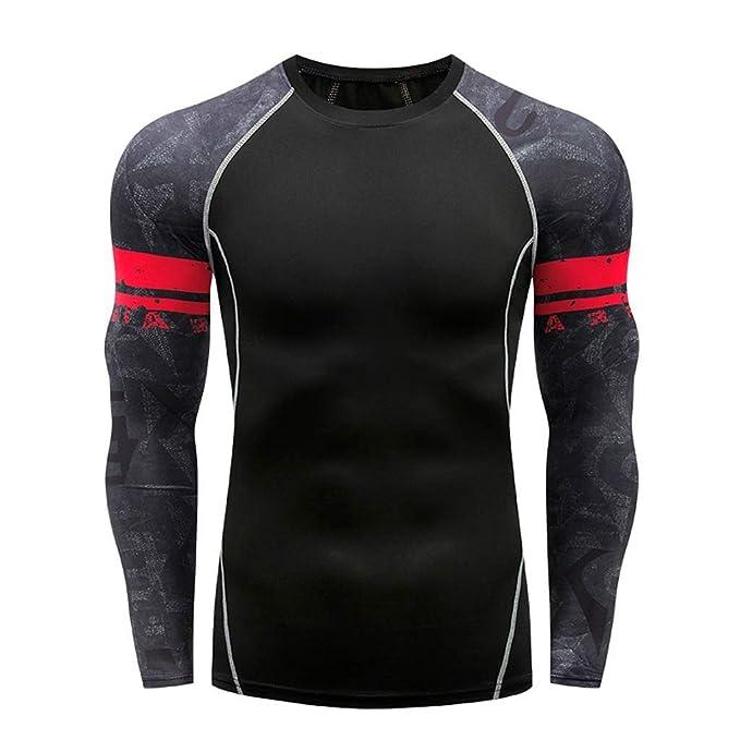 MODOQO Compression Tops for Men-Fashion Printed Long Sleeve ...