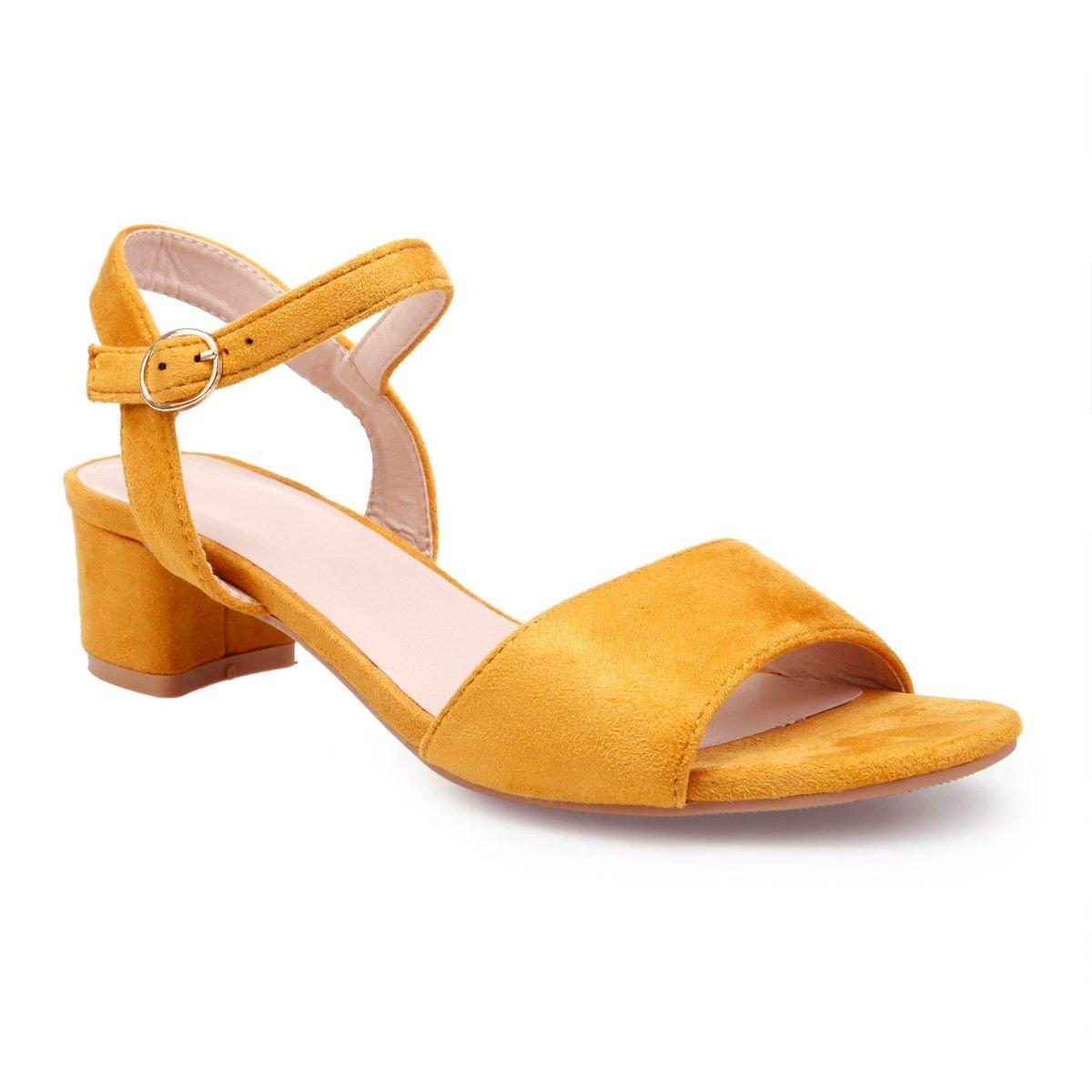 26486ab39624f2 La Modeuse Sandales Sandales en suédine à Petit Talon carré Chaussures