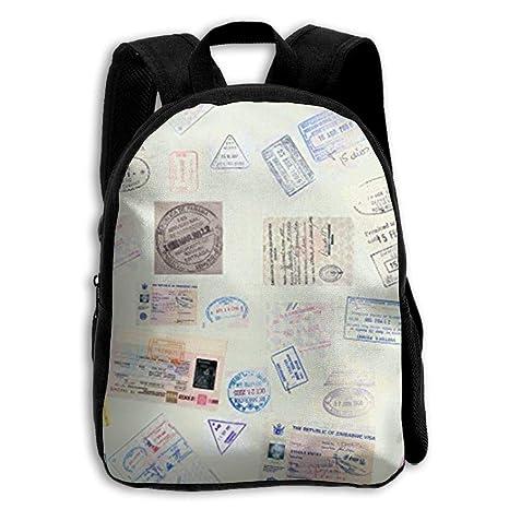 ERTOUGN22 Sellos Pasaporte Verde Niños Mochilas Escolares para Niñas Niños Bolsas Escolares Bolsos para Niños