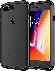 JETech Funda para iPhone 8 Plus y iPhone 7 Plus, Anti-Choques y Anti-Arañazos, Negro