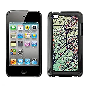 Soft Silicone Rubber Case Hard Cover Protective Accessory Compatible with Apple IPod Touch 4 - Plant Nature Forrest Flower 69