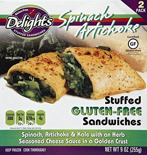 人気カラーの Gluten Free Free Delights Spinach Artichoke Stuffed B07N4LTMQ9 Sandwich Sandwich 9 Ounce (Pack of 6) [並行輸入品] B07N4LTMQ9, 現場屋さん:62e51f98 --- arianechie.dominiotemporario.com