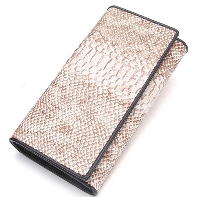 YQXR Carteras y Clips, Bolso de embrague de la moda de la cartera de la mujer de cuero bolsa de bisagra de hierro (Color : Beige, Size : S): Amazon.es: Ropa ...