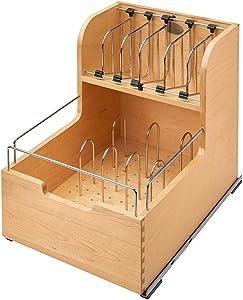 Rev-A-Shelf Food Storage Container Organizer Soft Close, Natural