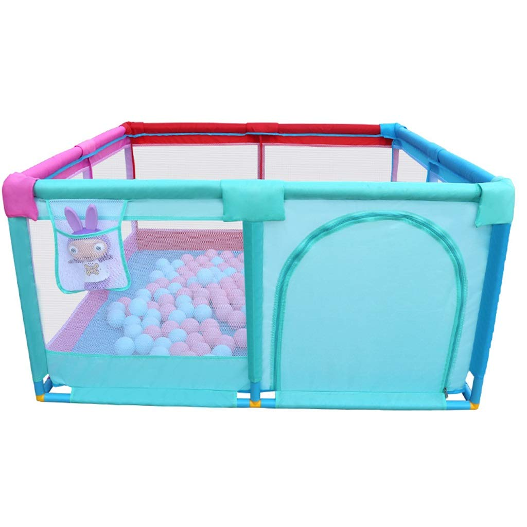 子供のためのベビーサークルボールピットプレイテント - ジッパードア付き - 子供/幼児や赤ちゃんのための4サイドボールピット - 屋内/屋外プレイテントとしてのボールは含まれていません)   B07R1XXJS8