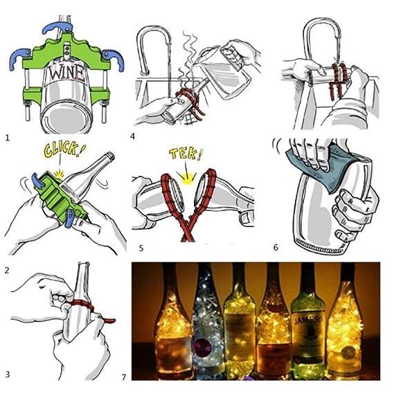 Cortador de botellas de vidrio Botella de vidrio de desecho DIY en ...