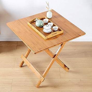 LZY Mesa plegable, mesa de escritorio cuadrada de madera ...