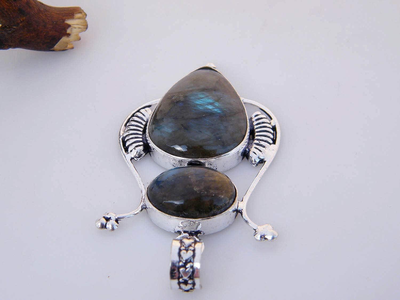Silver Plated Pendant Single Bail Pendant LA-3066 Handmade Designer Pendant Thebestjewellery Labradorite Pendant